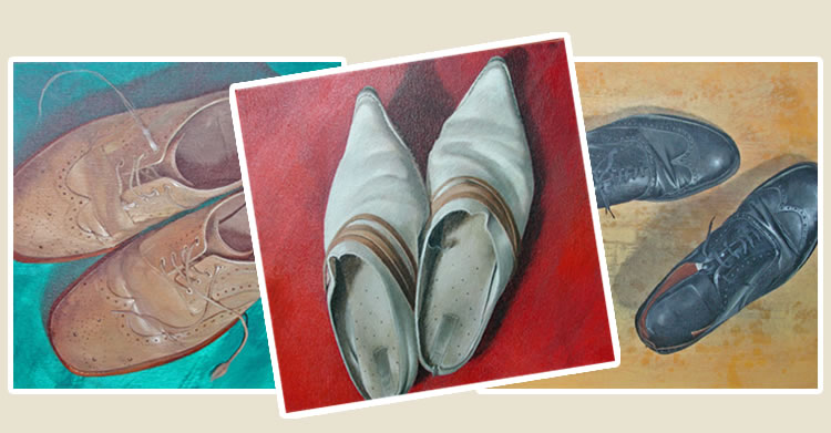 Fammous Shoes and Feeet Paintings By Jenn Rowlands